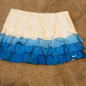 Nike fabulous tiered dip dye tennis skirt sz L